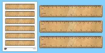 6 Inch Ruler Printable Math Tool