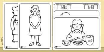 Goldilocks and the Three Bears Colouring Sheets - golidlocks and the three bears, colouring sheets, colouring, colouring worksheets, colouring activities