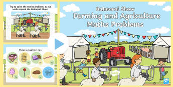 Balmoral Show Farming and Agriculture Key Stage 1 Maths Problems PowerPoint - Northern Ireland, Balmoral Show, 10th-13th May, Farming, Agriculture, Key Stage 1, maths, problems,