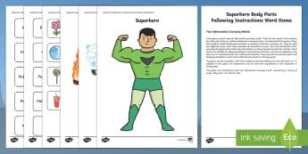 Superhero Following Instructions 2 ICW Game - superhero, superheroes, following instructions, follow, instructions, icw game
