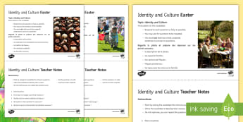 Identity and Culture Foundation Speaking Photo Question Cards French  - KS4, French, Easter, GCSE, speaking, photo, picture, speaking, practise, identity, culture, foundati