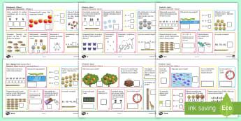 Primăvara - Planșe cu activități matematice - Primăvara  Planșe matematice de lucru,Romanian, matematică, exerciții, română, materiale, jocu