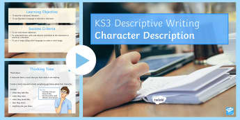 Character Description Cover Lesson Pack - Secondary - English - Cover Lessons KS3, narrative writing, cover, secondary cover lesson, character