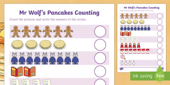 Counting Sheet to Support Teaching on Mr Wolf's Pancakes - mr wolfs pancakes, counting