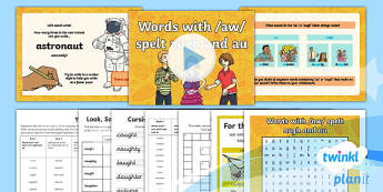 Y4 Autumn T1 W1: 'au' and 'augh' Words Spelling Pack