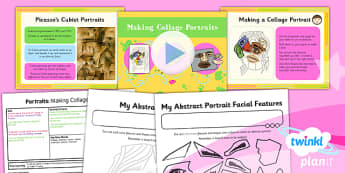 PlanIt - Art KS1 - Portraits Lesson 3: Making a Collage Portrait Lesson Pack