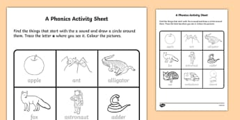 a Phonics Activity Sheet-Irish, worksheet