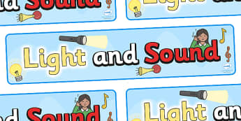 Light and Sound Display Banner - light and sound display banner, sound and light, light, sound, display, banner, sign, poster, Light and Dark, Day and Night, A4, science, day, night, shadow, reflection, reflective, bright, tint, colour, shade
