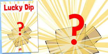 Lucky Dip Poster - lucky dip, poster, summer fair, fayre, prize