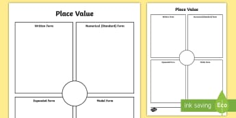 Place Value Activity Sheet - expanded form, simple form, expanded, place value, hundreds, tens, ones, units, ten thousands, numbe