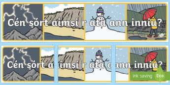 Cén sórt aimsir atá ann inniu banner - Cén, sórt, aimsir, atá, ann, inniu, banner