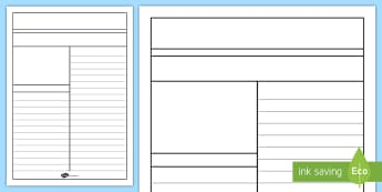 Newspaper Writing Template - writing aid, writing template, literacy