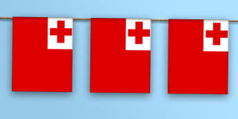 Tonga Flag Bunting - nation, international, geography, culture, display, oceana, australiasia, olympics