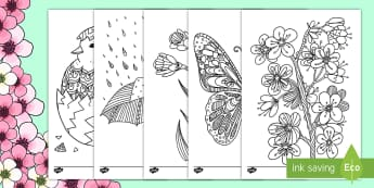 Spring Mindfulness Colouring - spring, mindfulness colouring, mindfulness, colouring, colour, easter