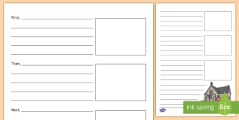 My New School Tour Recount Writing Template - moving school, transition, end of year, moving school, infants to juniors. Y6 to secondary.