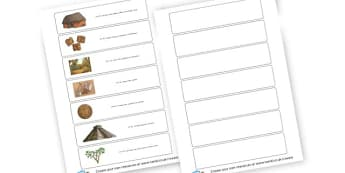 Maya Timeline - KS2 Myths and Legends Mayan Civilization Creation Story Primary Resou