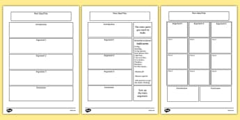 Persuasive Writing Template - persuasive writing, template, templates, help, prompt, arguments, evidence, for and against, display, banner, sign, poster, finding arguments, writing