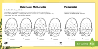 Osterhasen - Mathe Profi - Aufgaben - spring, easter, bunny, eggs, Maths, addition, Frühling, Ostern, Hase, Eier, Mathe, Addition, rechne