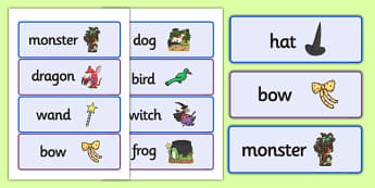 Word Cards to Support Teaching on Room on the Broom - room on the broom, word cards, themed word cards, cards of words, key words, topic words, words, writing aid, writing help