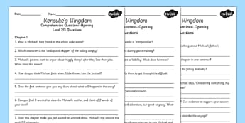 Kensuke's Kingdom Differentiated Reading Comprehension Activity - stories