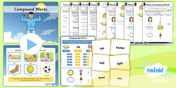 PlanIt Y2 SPaG Lesson Pack: Compound Words - planit, GPS, spelling, grammar, compound words