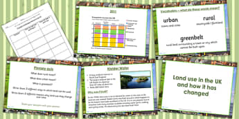 United Kingdom Land Use Lesson Teaching Pack - geography, UK