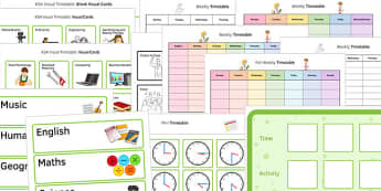 KS4 Visual Timetable Resource Pack - ks4, visual timetable, pack