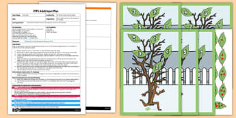 The Family Tree Counting Game EYFS Adult Input Plan and Resource Pack to Support Teaching on Stick Man - family tree, counting, game