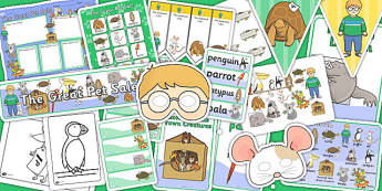 Story Sack to Support Teaching on The Great Pet Sale - pets, animals, stories, books