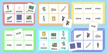 St Bingo Game - st sound, bingo, game, bingo game, activity