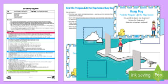 EYFS Find the Penguin Lift the Flap Scene Busy Bag Plan and Resource Pack - Lost and Found, Oliver Jeffers, polar regions, penguin, lost penguin, arctic, antarctic, babies, bab