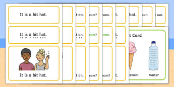 Summer Simple Sentence Cards