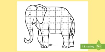 Colourful Elephant A2 Collage Template - colourful elephant, elmer, a2, collage, template