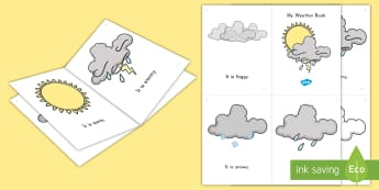 My Weather Book Emergent Reader - Weather, emergent reader, weather book, weather emergent reader weather vocabulary, weather words