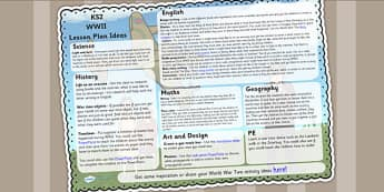 World War Two Lesson Plan Ideas KS2 - ww2, world war two, ideas