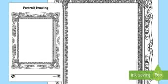 Myself Portrait Drawing Activity Sheet