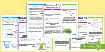Year 5 Measurement Differentiated Maths Mats - KS2 Maths, Year 5, Y5, measurement, expectations, greater depth, working towards, expected level, st