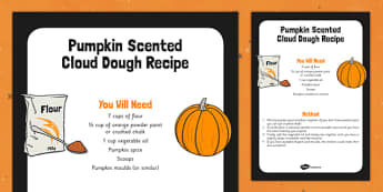 Pumpkin Scented Cloud Recipe - food, halloween, vegetable, art, design, early years