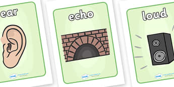 Sound And Hearing Visual Aids - sound and hearing, visual aid, aids, ear, echo, loud, quiet, high, volume, low