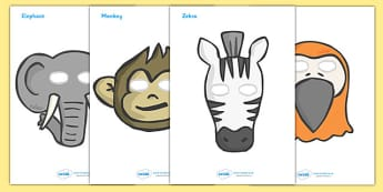African Surprise Role Play Masks - activity, activities, game