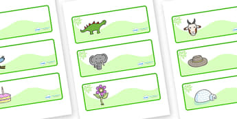 Green Themed Editable Drawer-Peg-Name Labels - Themed Classroom Label Templates, Resource Labels, Name Labels, Editable Labels, Drawer Labels, Coat Peg Labels, Peg Label, KS1 Labels, Foundation Labels, Foundation Stage Labels, Teaching Labels