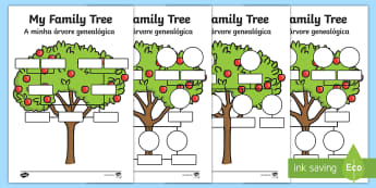 My Family Tree Activity Sheets English/Portuguese - My Family Tree Worksheets - Family tree, family tree template, my family, parent, mum, dad, grandpar