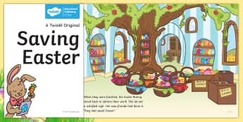 Saving Easter eBook - Children's Books, Easter, chickens, eggs, rescue