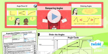 PlanIt Y4 Properties of Shape Lesson Pack Angles (2) - Properties of Shapes, angles, acute, obtuse
