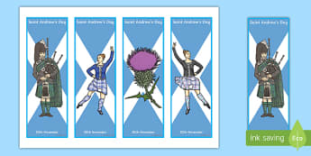 Saint Andrew's Day Bookmarks