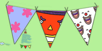 Story Bunting to Support Teaching on Pants - pants, pants story, display bunting, bunting, display, bunting for display, classroom display, themed bunting, pants display