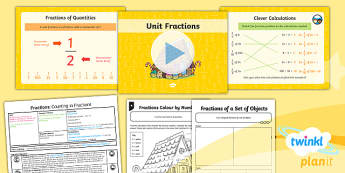 PlanIt Y3 Fractions Lesson Pack Recognise and Use Fractions of a Quantity (1) - fractions, planit, lesson pack, recognise, use, fractions, quantity