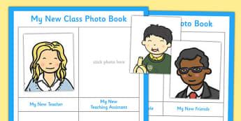 My New Class Photo Book - my new class, photo book, photo, book