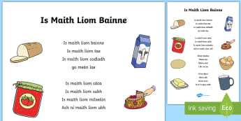 I Like Milk Poem Display Poster Gaeilge - poster, gaeilge, poem, milk, display, vocabulary
