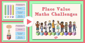 Place Value Maths Challenge PowerPoint - maths games, numeracy